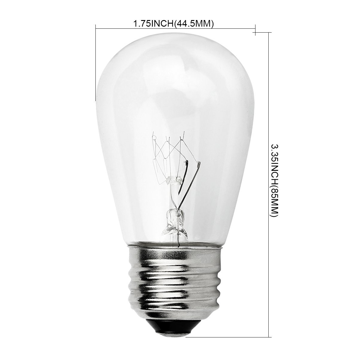Porch Light Bulb Replacement: Newhouse Lighting Outdoor S14 Incandescent Replacement