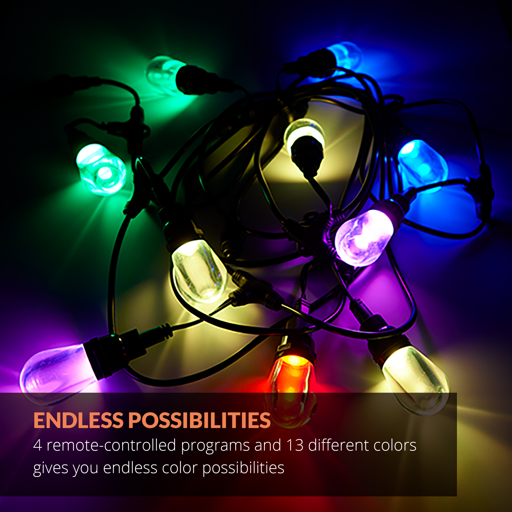 Newhouse Lighting Outdoor Led Color Changing Rgb String Lights With