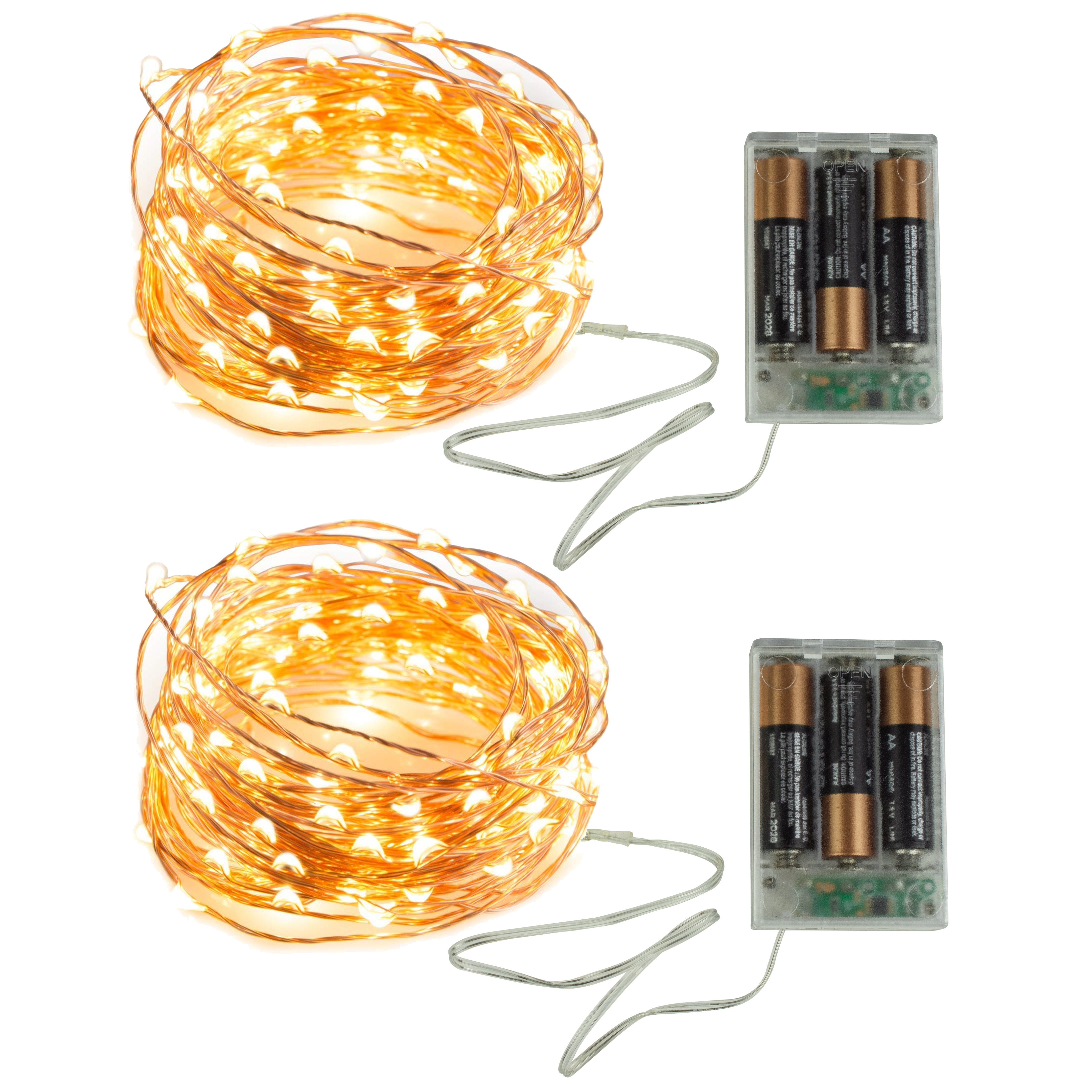 32ft Battery Powered Led String Lights With 100 Led Lights Waterproof Outdoor And Indoor Fairy Lights Patio Lights Party Lights Dorm Room Essentials Copper Wire Lights Warm White 2 Pack Newhouse Lighting
